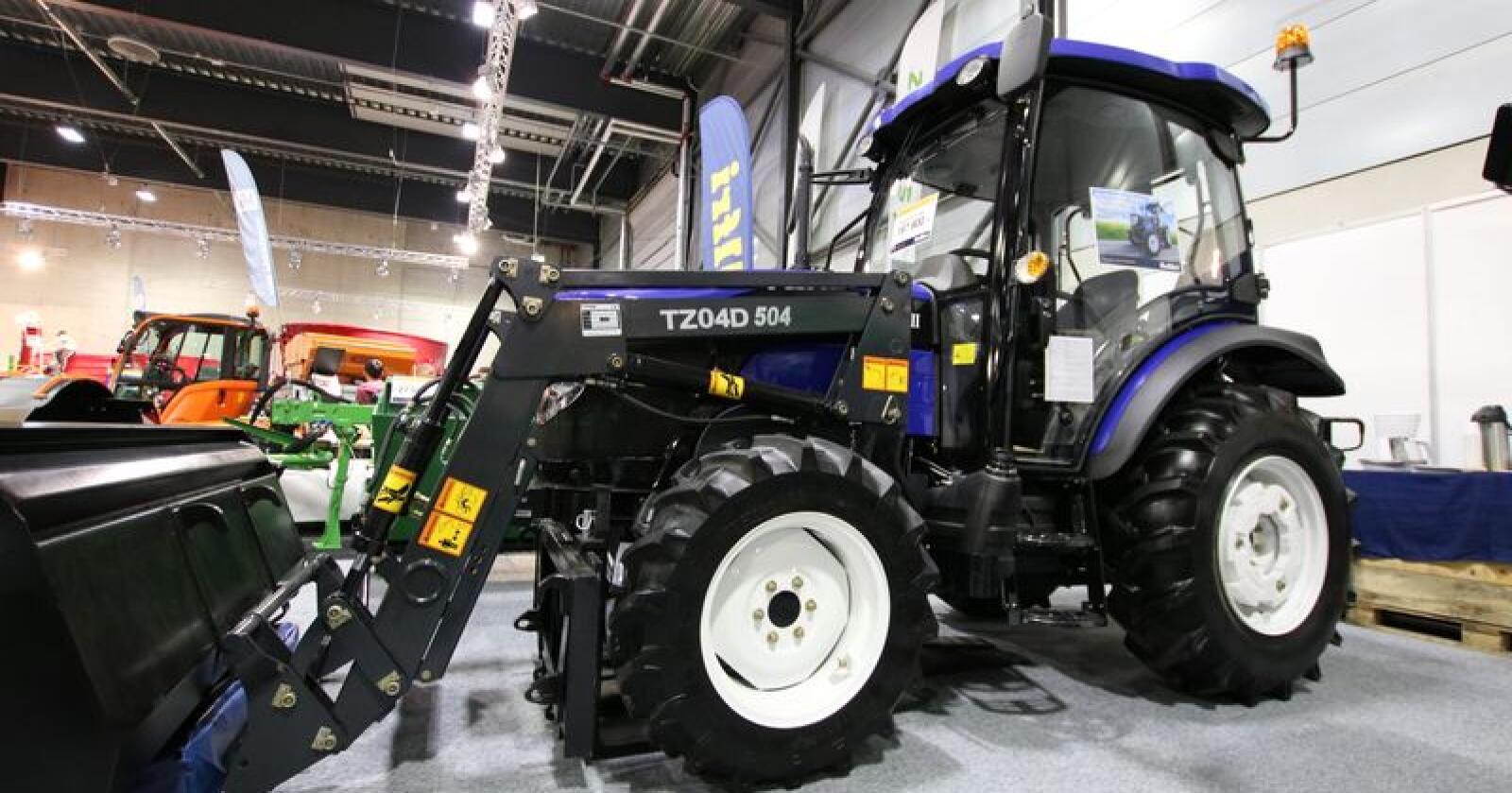 Populær: Ifølge Kellfri er Lovol 504-III den mest populære maskinen på deres stand, og på tidligere messer har de opplevd å selge flere tilsvarenden traktorer nokså spontant. Alle foto: Trond Martin Wiersholm