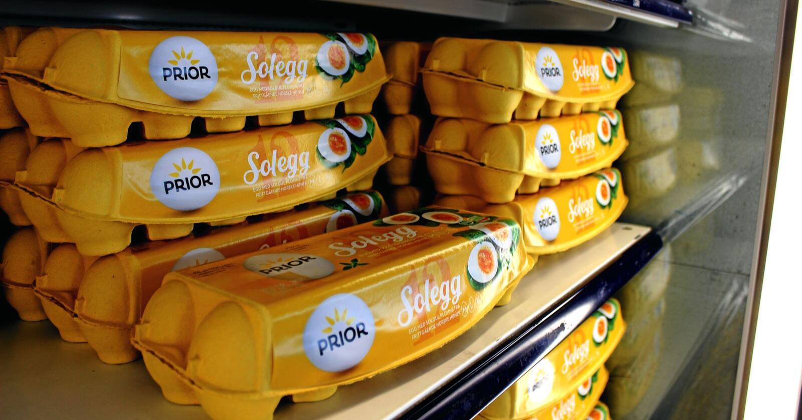 I påske spiser vi normalt 25 millioner egg. Foto: Jon-Fredrik Bækgaard Klausen