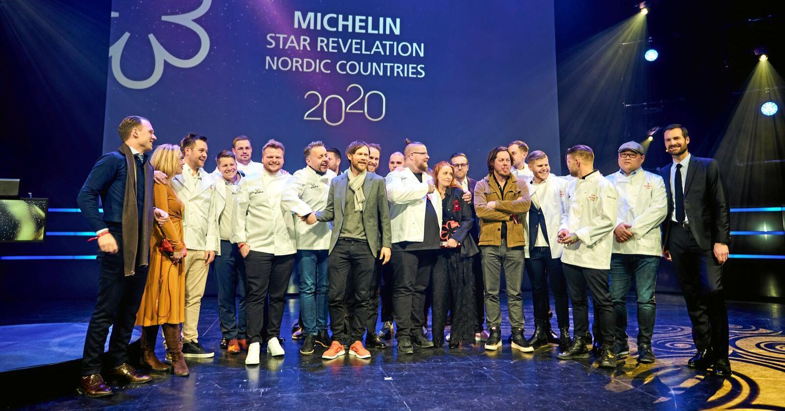 Stjerner i sikte: Bilete av alle som har fått stjerner under utdeling av Michelin-stjerner i dei nordiske landa i år. Foto: Ole Martin Wold / NTB scanpix