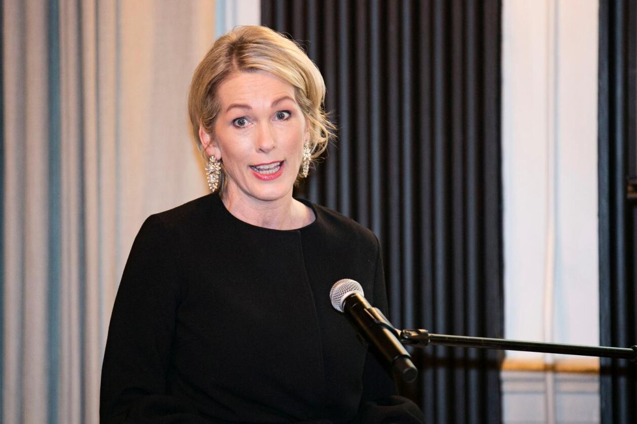 – Jeg er rett og slett rørt over støtten jeg har fått fra kolleger og tillitsvalgte, sier administrerende direktør i Innovasjon Norge, Anita Krohn Traaseth. Foto: Pontus Höök / NTB scanpix