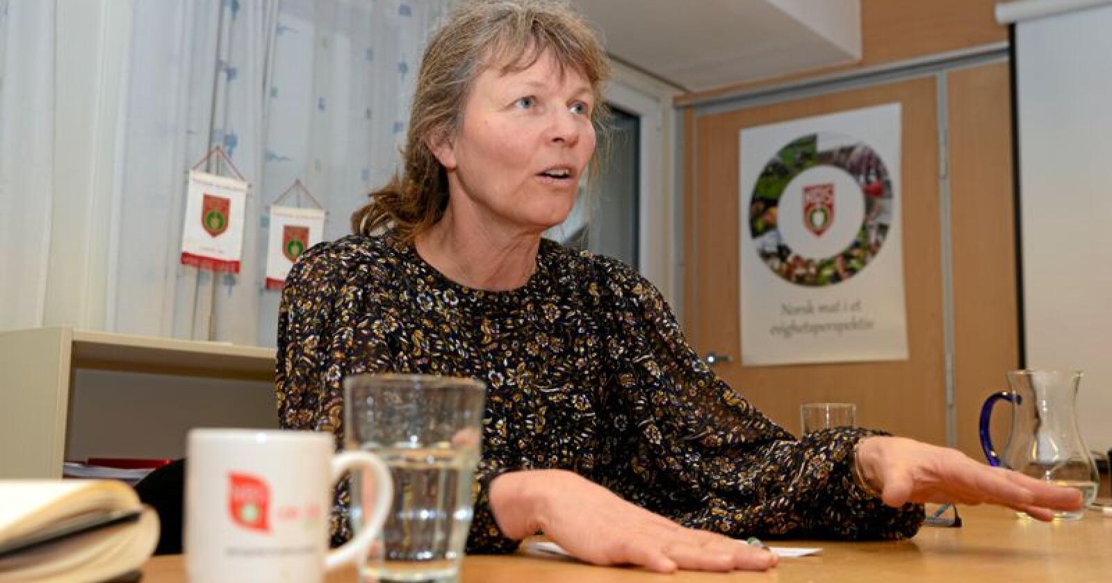 Leder i Norsk bonde- og småbrukarlag, Kjersti Hoff. Foto: Mariann Tvete