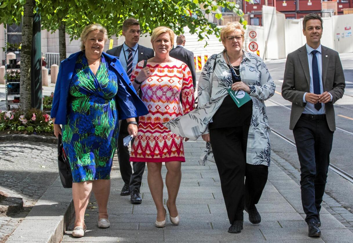 Borgerlig samarbeid: Venstre har fått tallhjelp fra Høyre foran årets valgkamp. Foto: Berit Roald/ NTB scanpix