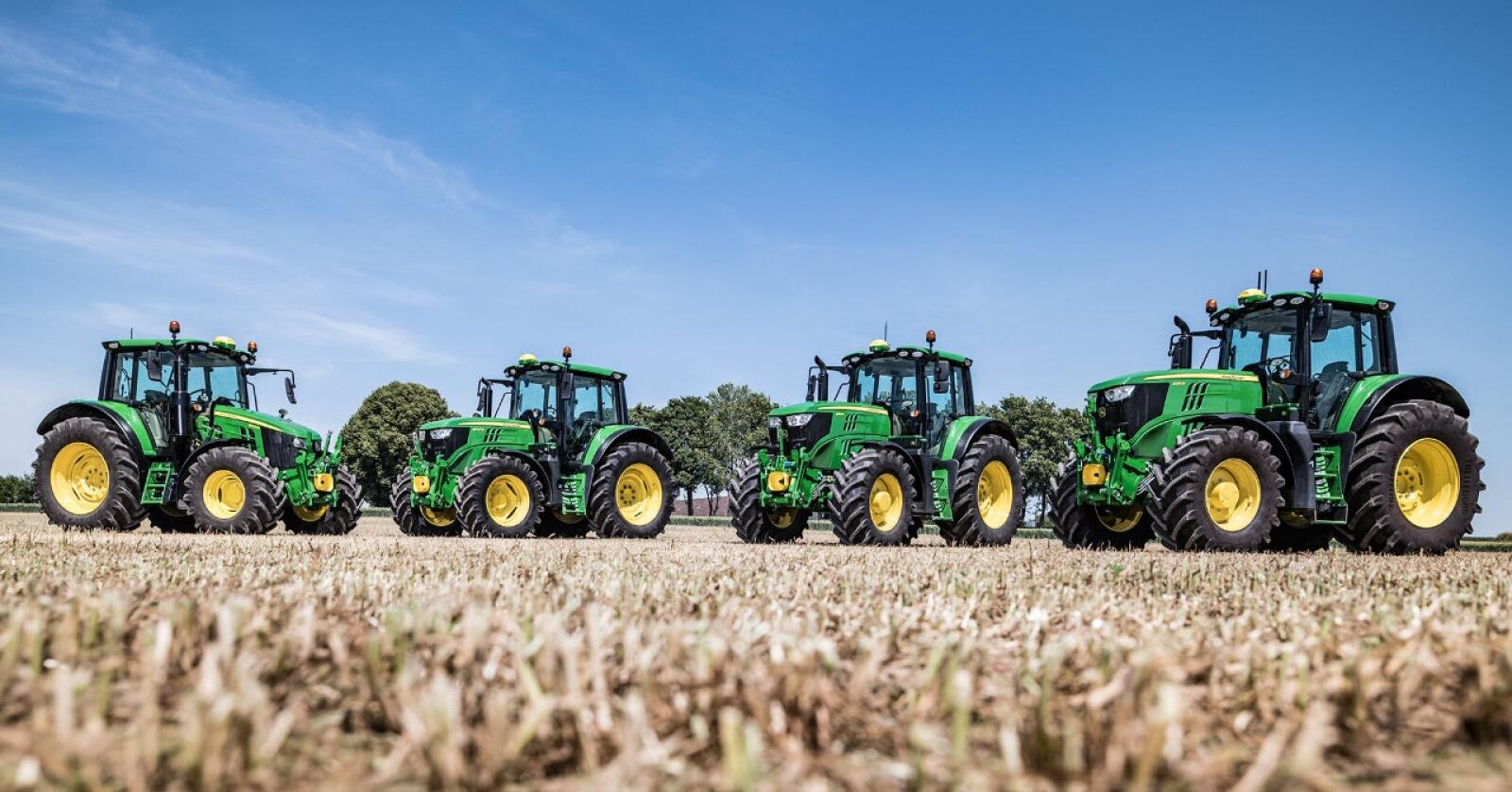 Markedsvinner: John Deere ble mestselgende traktormerke i Sverige i 2020. Foto: John Deere