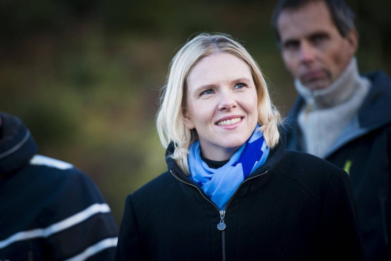 Landbruksminister Sylvi Listhaug har grepet inn mot et avslag mot juletredyrking i et aktivt jordbruksområde på Karmøy. Foto: Skjalg Bøhmer Vold
