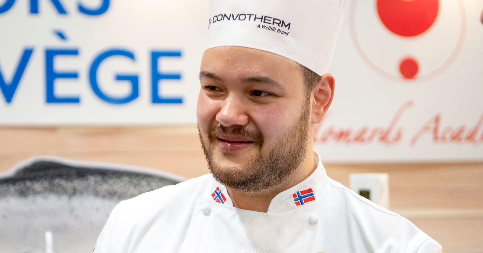 Christian André Pettersen representerer Norge i kokkekonkurransen Bocuse d'Or i Lyon.  Foto: Johan Falnes / NTB
