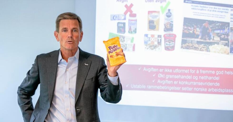 Kritisk til sukkeravgiftinnretningen: Orklas konsernsjef Peter A. Ruzicka. Foto: Audun Braastad / NTB scanpix