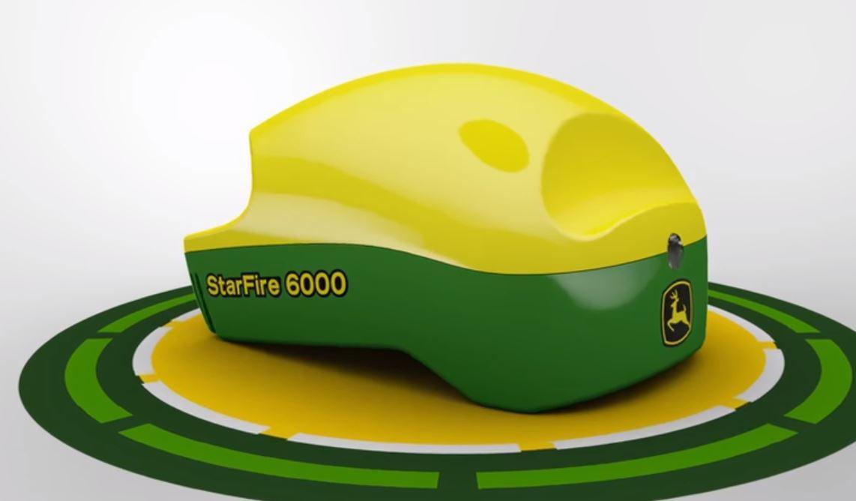 Nyheten StarFire 6000 leverer 40 prosent bedre nøyaktighet og er 66 prosent raskere i oppstart enn dagens SF 3000-antenne. (Foto: John Deere)