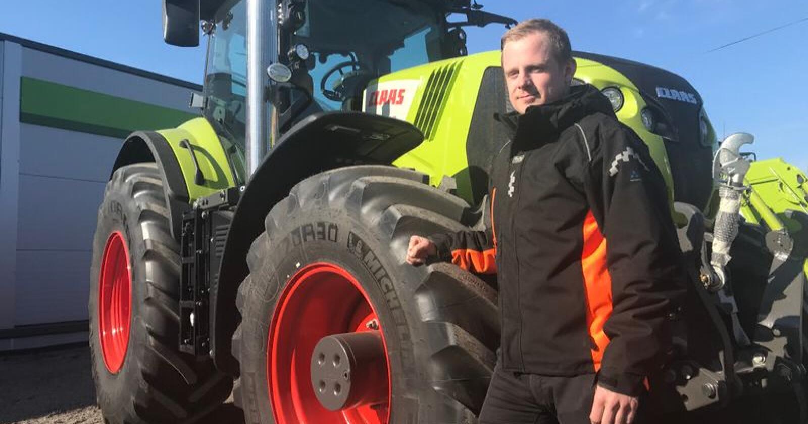 Trond Widar Løyning og Traktor og Maskin AS, tar over salget av Claas i Agder etter OK Maskin Sør. (Foto: Norwegian Agro Machinery)