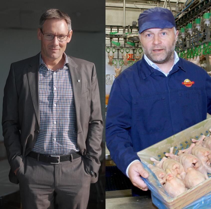 Arne Kristian Kolberg i Nortura og Hallstein Bø i Den Stolte Hane. Foto: Ketil Blom Haugstulen og Bjarne Bekkeheien Aase