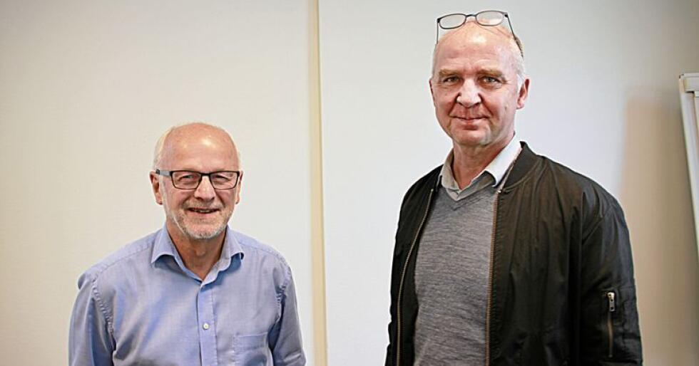 Rovviltnemnd-lederne Arnfinn Nergård (Sp) og Øyvind Solum (MDG) er svært ofte uenige i spørsmål knyttet til rovdyrforvaltningen. Foto: Svein Egil Hatlevik