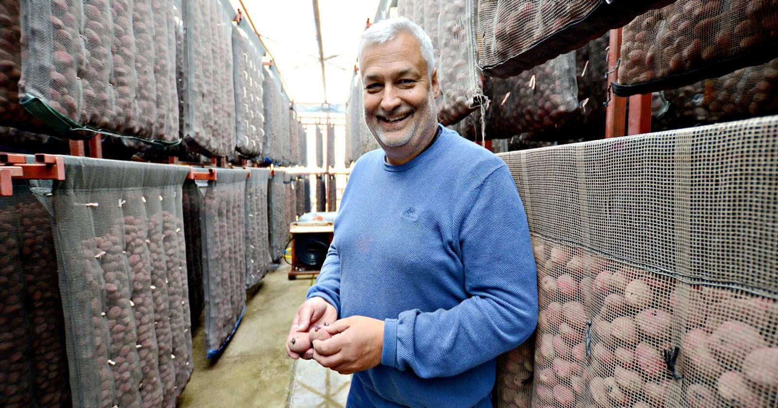 Tom Brauter er potetprodusent i Solør.