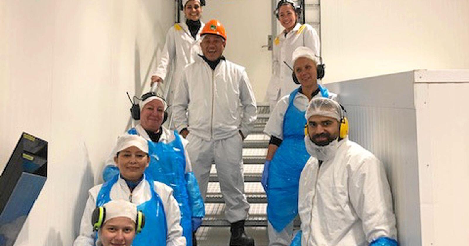 Noen av de ansatte ved Nortura Rudshøgda. Foto: Nortura