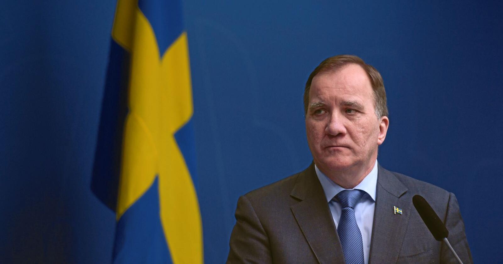 Sveriges statsminister Stefan Löfven. Foto: Erik Simander / TT / NTB