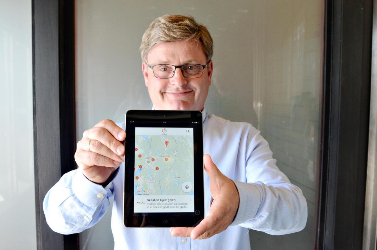 Fant medlemmer: Bernt Bucher Johannessen har allerede prøvd appen, og kunne konstatere at han fant Hanen-bedrifter langs veien.