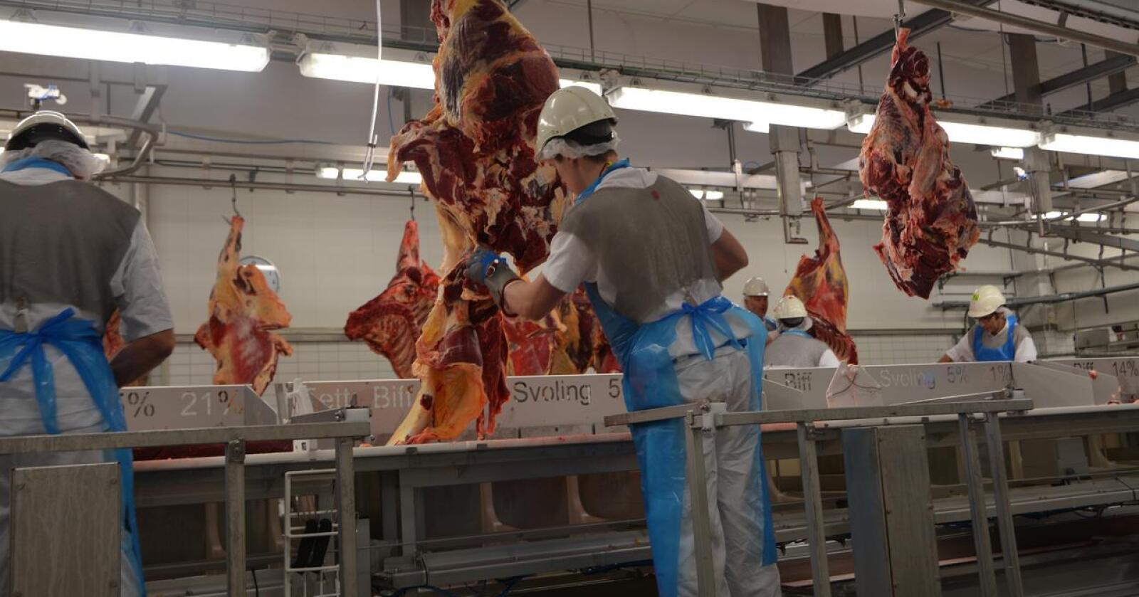 Norturas beslutning om å legge ned på Otta har skapt en mulighet for dem som ikke trenger å tenke helhetlig om landbruk og matproduksjon i hele Norge, skriver Teig Madsen. Arkivfoto av slakteriet på Otta: Anders Sandbu