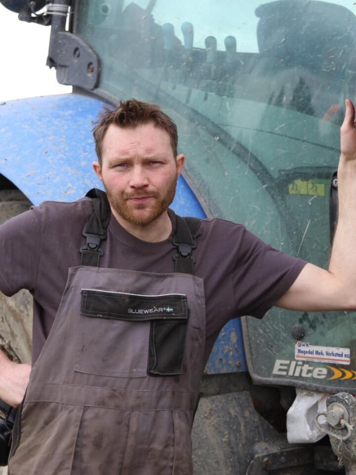 TYDELIG STEMME: Svine- og ammekubonde Ola Lie Berthling-Husby gjorde seg bemerket da han satte skapet godt på plass på Debatten på NRK. Skal han fortsette som matprodusent, er han avhengig av å se en rask retningsendring i norsk landbrukspolitikk.