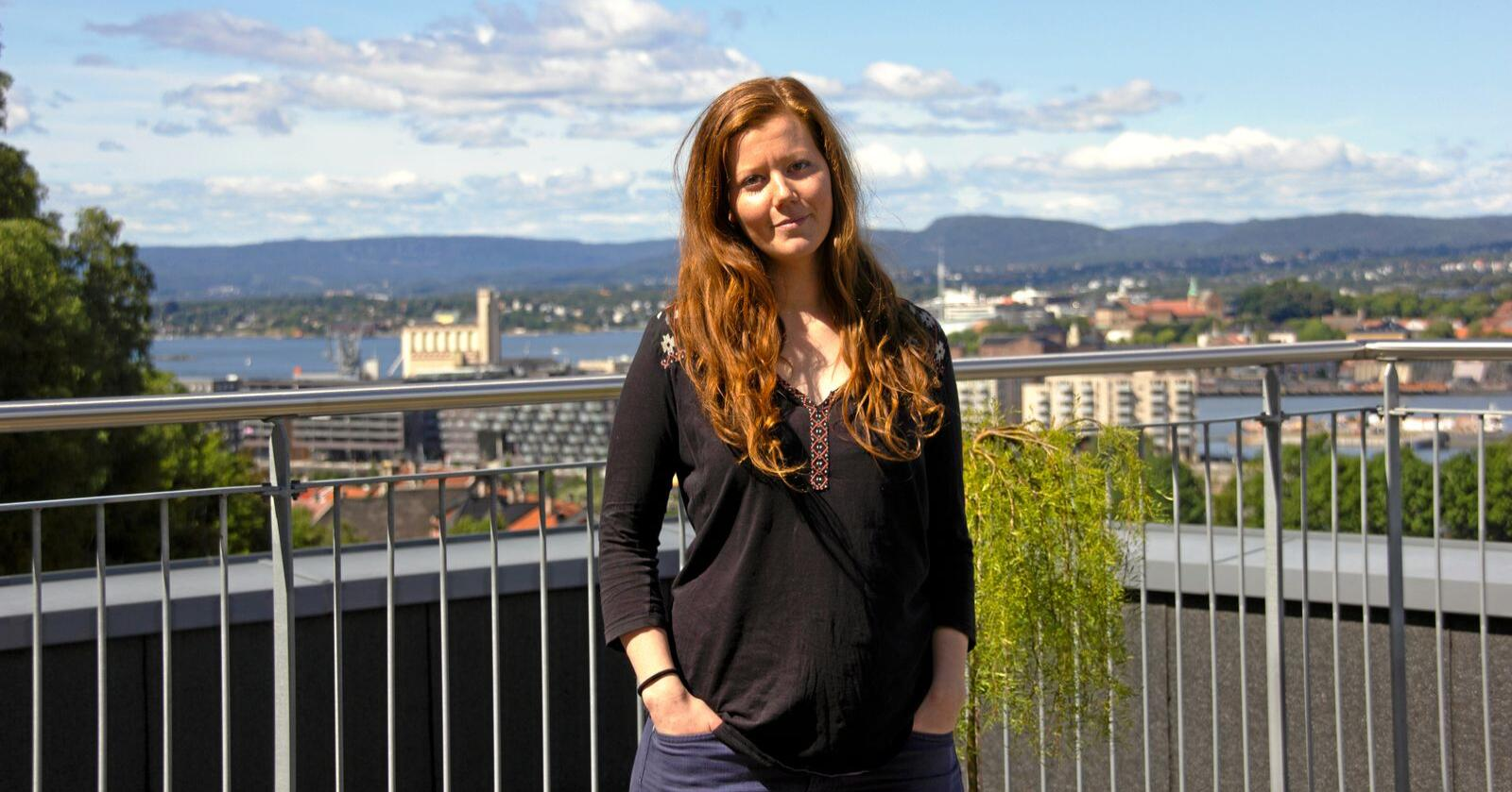 """Norun Haugen er dyreverner kjent fra Brennpunkt-dokumentaren """"Griseindustriens hemmeligheter."""" Foto: Vilma Taubo"""