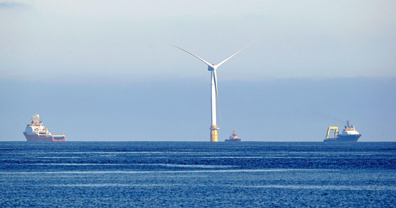 Interessekonflikter til havs kan forekomme med en økt satsing på vindkraftutbygging til havs. Foto: Jan Kåre Ness / NTB scanpix