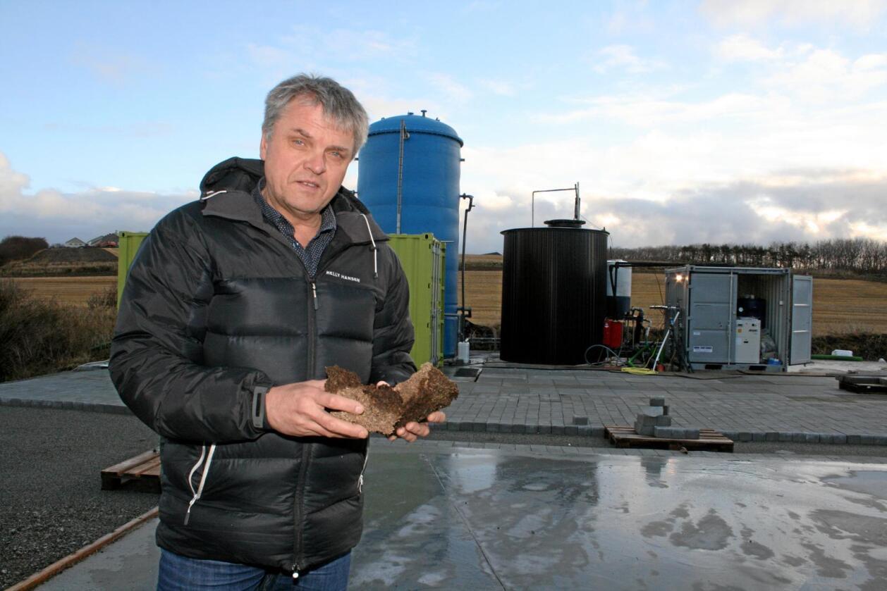 Olav Røysland har gjennom selskapet Jæren Biogass AS satsa tungt på å utvinne biogass frå grisegjødsel. Foto: Bjarne Bekkeheien Aase