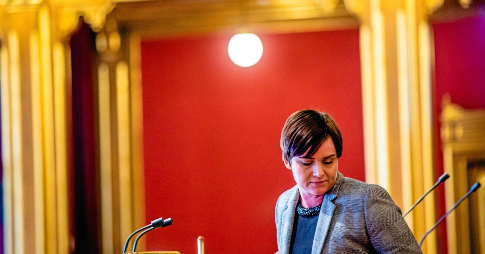 Margret Hagerup (H), stortingsrepresantant frå Rogaland, vil at partiets landbrukspolitikk ikkje berre skal ta omsyn til produksjon. Foto: Stian Lysberg Solum / NTB scanpix