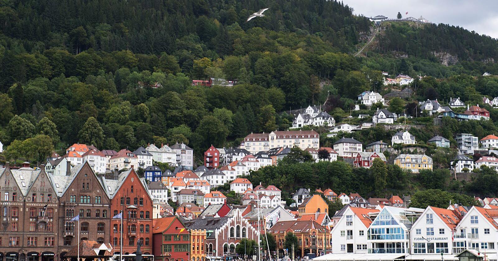 Åpningen av jubileumsåret skal foregå på Bryggen i Bergen. Foto: Marit Hommedal / NTB scanpix