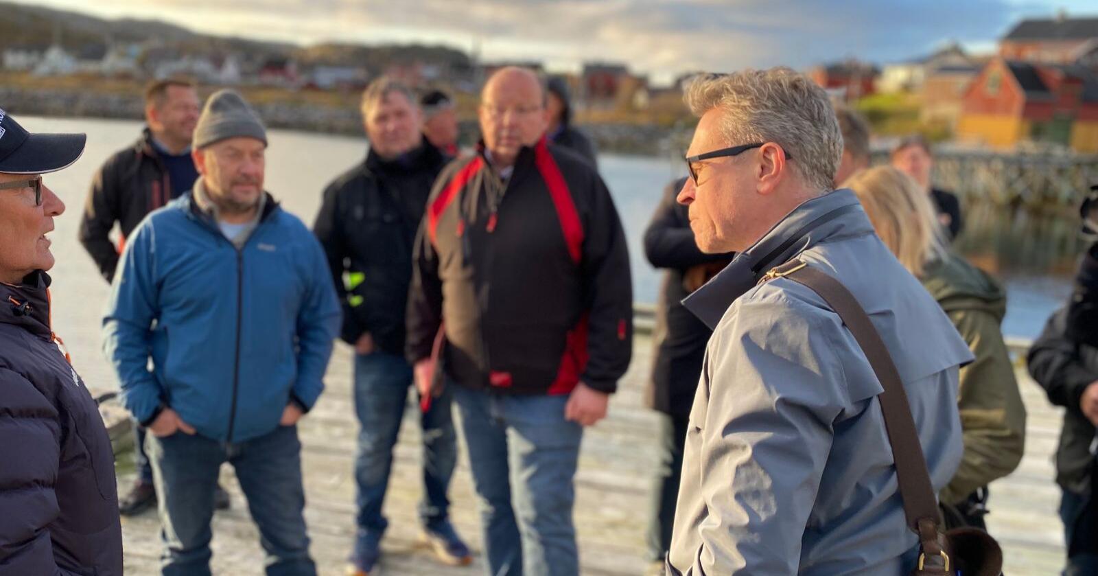 Fiskeri- og sjømatminister Odd Emil Ingebrigtsen avviser bastant EUs krav om å gi EU fiskekvoter ved Svalbard-sonen og i norsk økonomisk sone, i bytte mot fiskekvoter. Han mener samtidig at EØS-avtalens sjømatdel bør reforhandles for å gi norsk videreforedlingsindustri bedre konkurransevilkår. Foto: Marine Røysland / Nærings- og fiskeridepartementet.