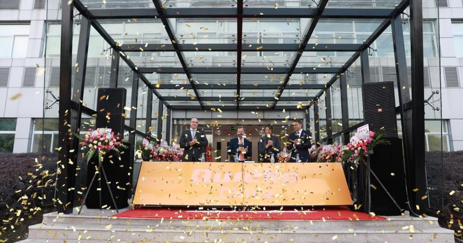 Feiring: Den nye fabrikken ble åpna 11. oktober 2018 av Niklas Åström, administrerende direktør i Ålö. Foto: Ålö