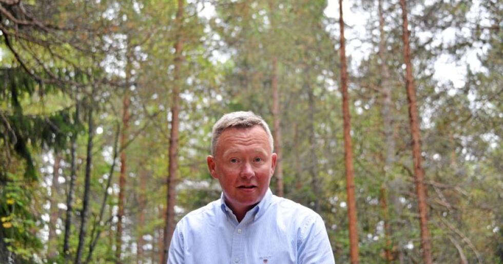 Olav A. Veum er styreleiar i Norges Skogeierforbund og AT Skog. Han spår at veksten i tømmerprisane kjem til å flate ut. Foto: Tone Thorgrimsen