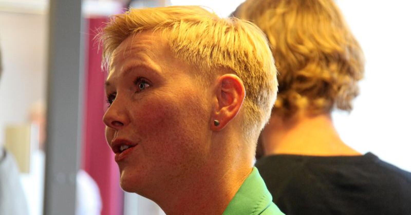Anne Beathe Tvinnereim mener Senterpartiet har god miljøpolitikk, som vil komme mer frem i tiden som kommer. Foto: Benjamin Hernes Vogl