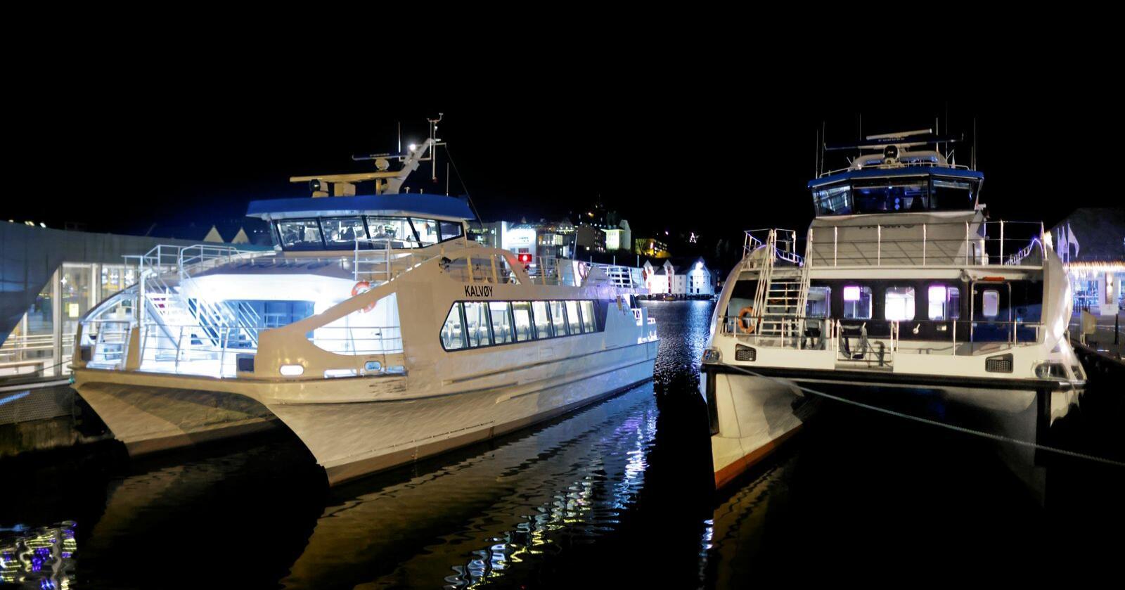Slow boat: Boreal sine fartøy fikk seilingsnekt etter at en av selskapets ferger hadde kjørt med åpen baugport. Foto: Svein Ove Ekornesvåg / NTB