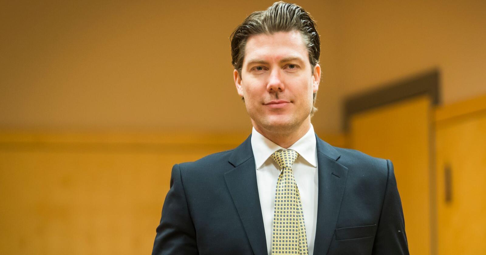 Christian Flemmen Johansen er forsvarer til den tidligere Nortura-ansatte. Foto: Heiko Junge/NTB scanpix