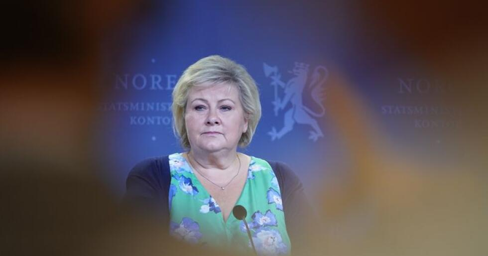 Statsminister Erna Solberg (H) tror Ap kan komme til å gi andre partier gjennomslag lokalt som velgerne kan komme til å si nei takk til når det er stortingsvalg i 2021. Foto: Heiko Junge / NTB scanpix