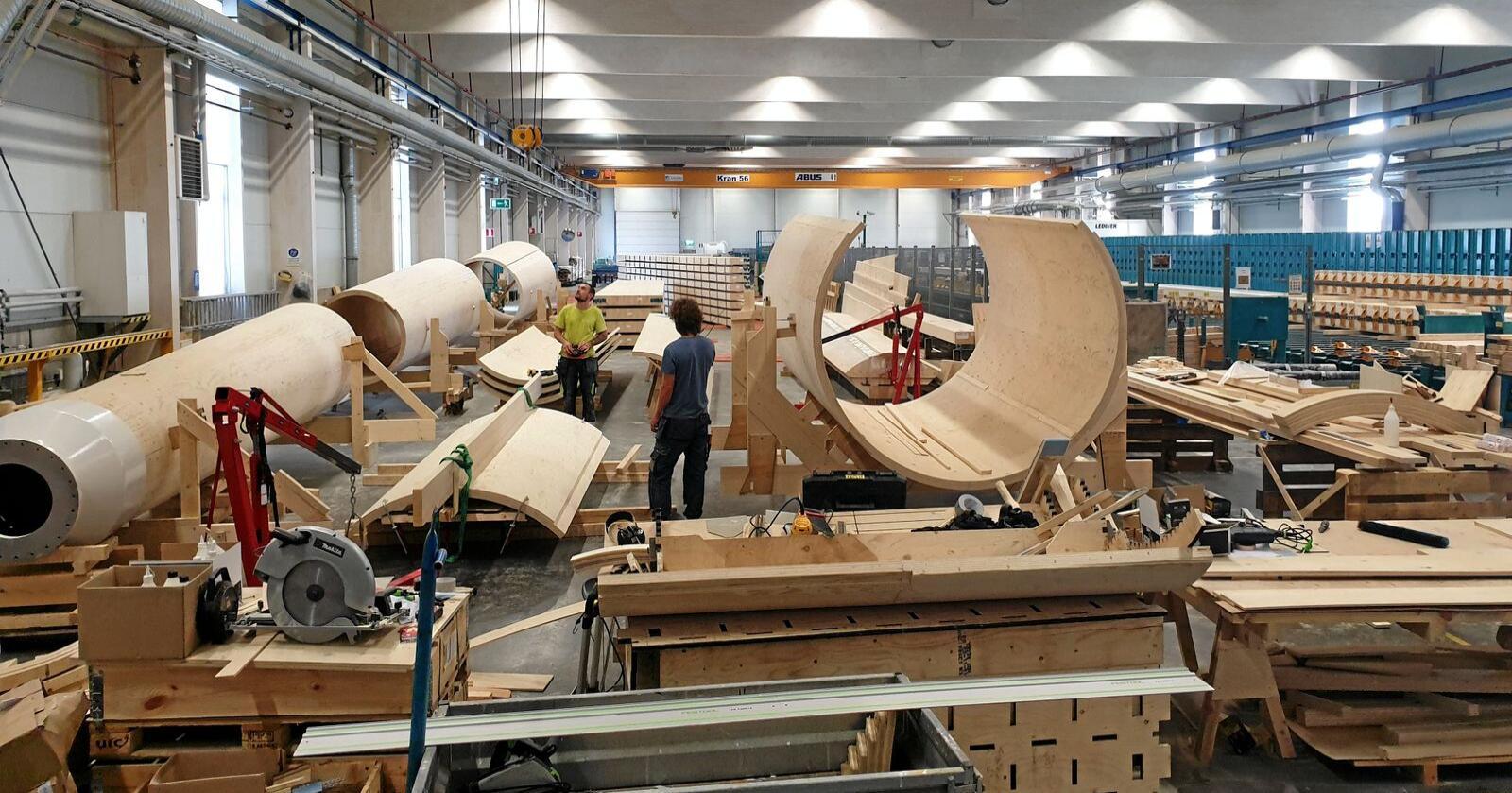 Svenske Modivon utvikler vindturbiner produsert av nordisk gran. Foto: Anton Thorstensson / Modivon