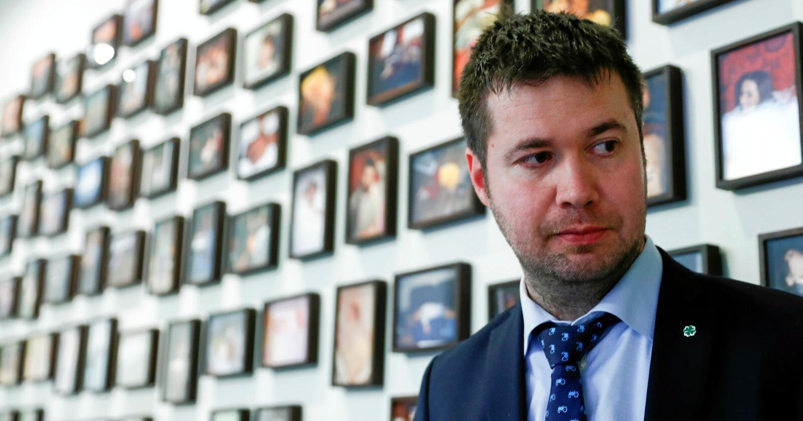 Forsvarar støttekutt til Noah: Geir Pollestad, leiar av næringskomiteen på Stortinget (Sp). Foto: Terje Pedersen / NTB scanpix