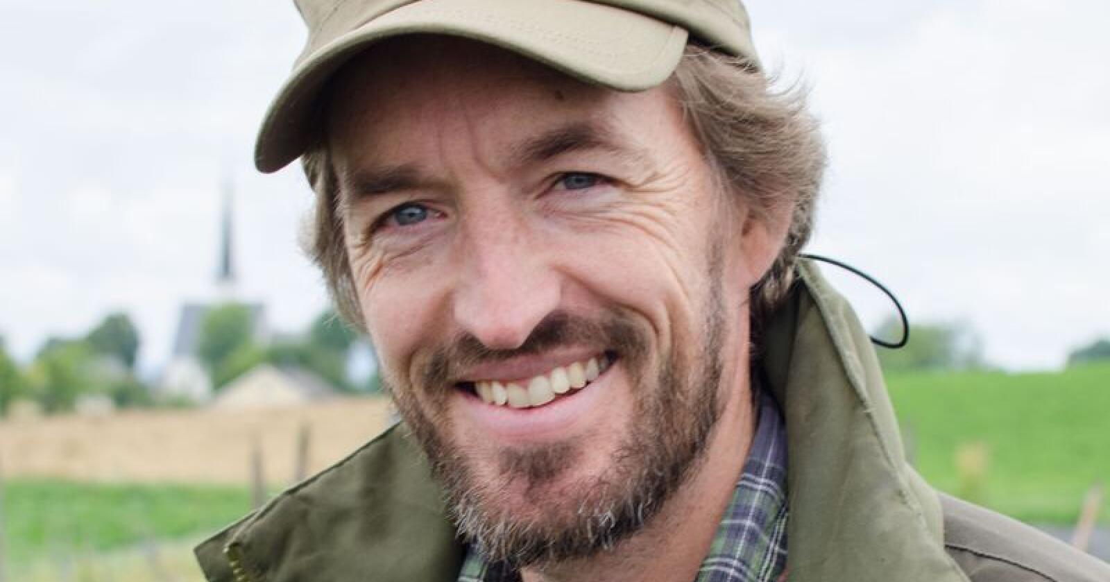 Jasper Kroon er daglig leder i Solhatt økologisk hagebruk. Foto: Privat