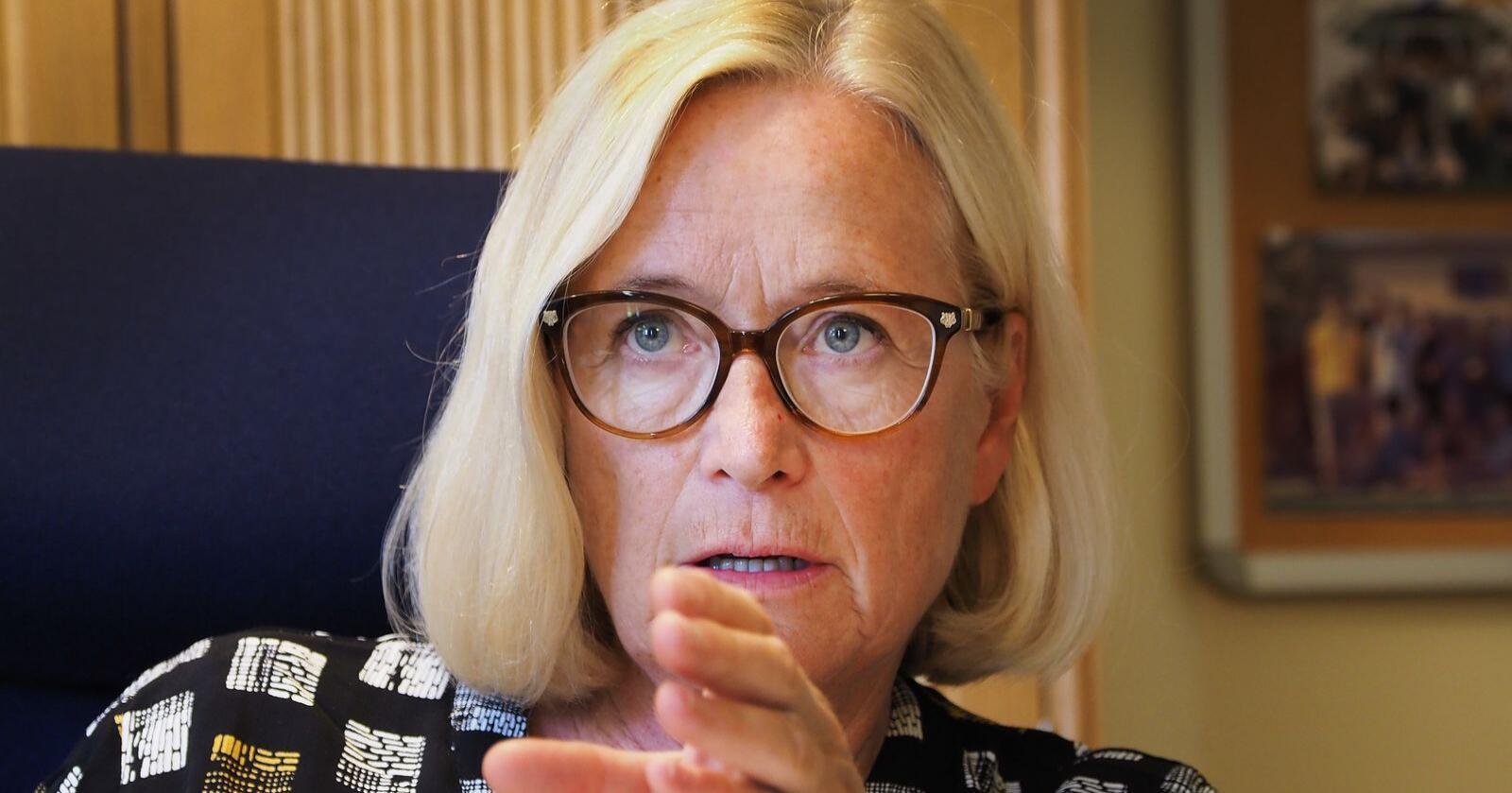 Leder av Senterpartiets programkomité, Marit Arnstad, vil skrote hele Politidirektoratet. Foto: Siri Juell Rasmussen