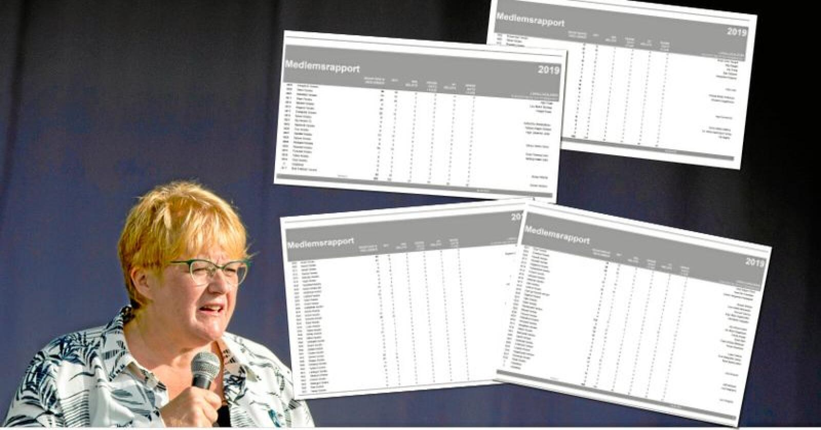 Venstre-leder Trine Skei Grande har sagt til Venstres valgkomité at hun ønsker gjenvalg til våren. Partiorganisasjonen som eventuelt skal velge henne er helt utradert i store deler av landet, ifølge partiets interne medlemslister. Foto: Vegard Wivestad Grøtt / NTB scanpix