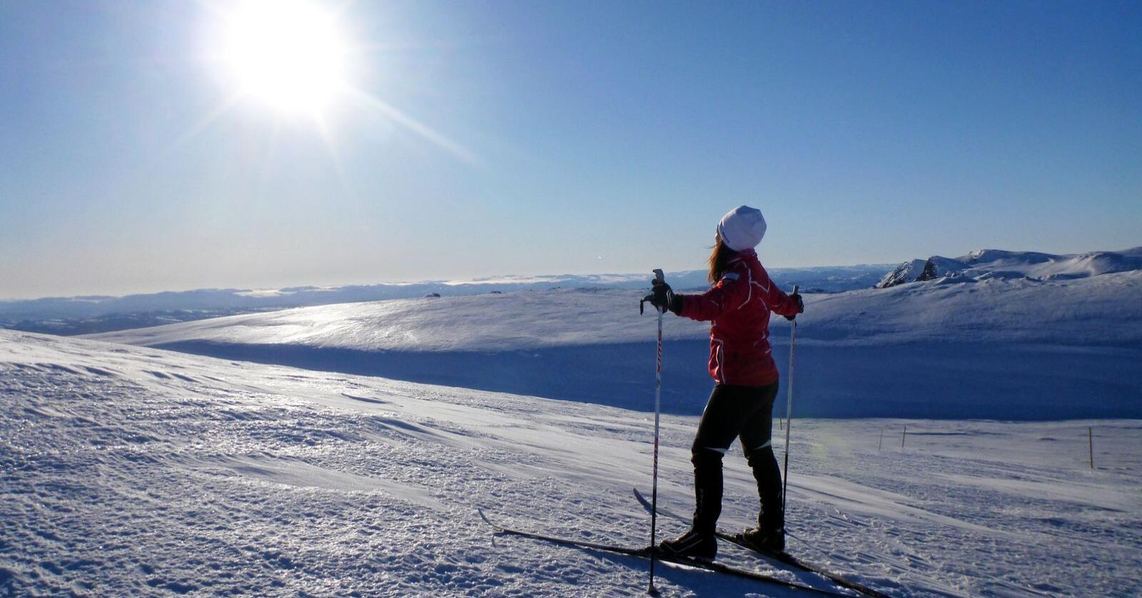 Ut på tur: Fleire vil ut på tur enn på treningssenter. Foto: Erik Johansen / NTB scanpix