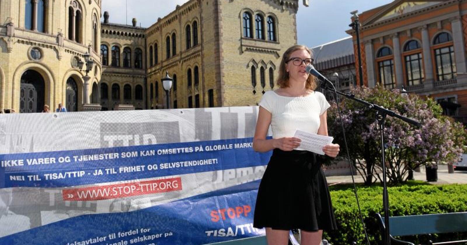 Marie Sneve Martinussen er nestleder i Rødt Foto: Vidar Sandnes