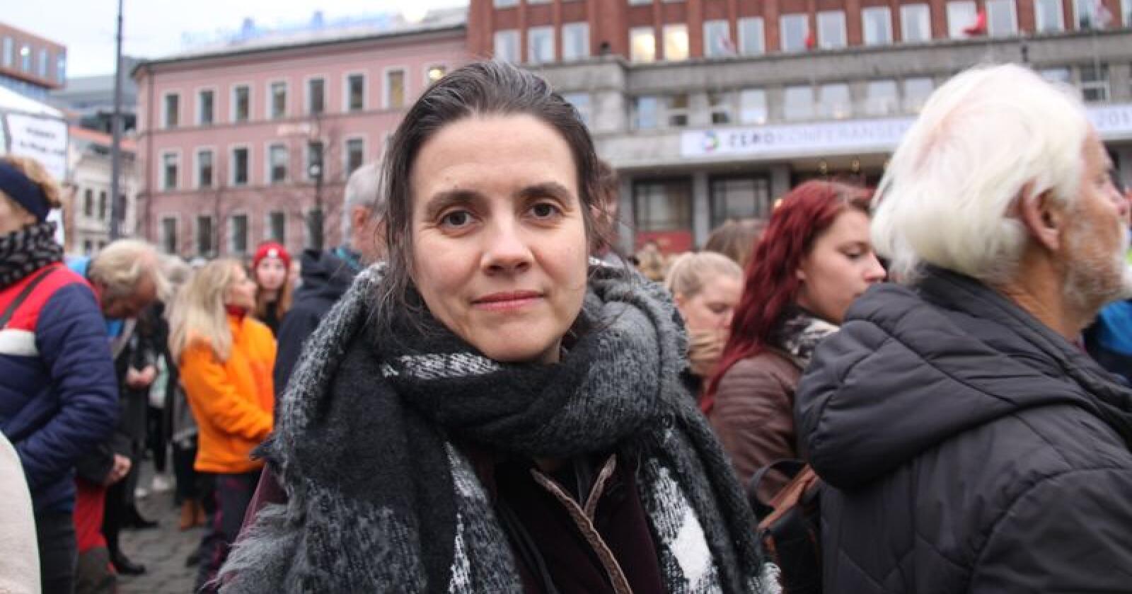Siri Martinsen er leder i Noah, og mener Senterpartiets Geir Pollestad har en urimelig og uriktig kritikk av organisasjonen hun leder. (Foto: Janne Grete Aspen)