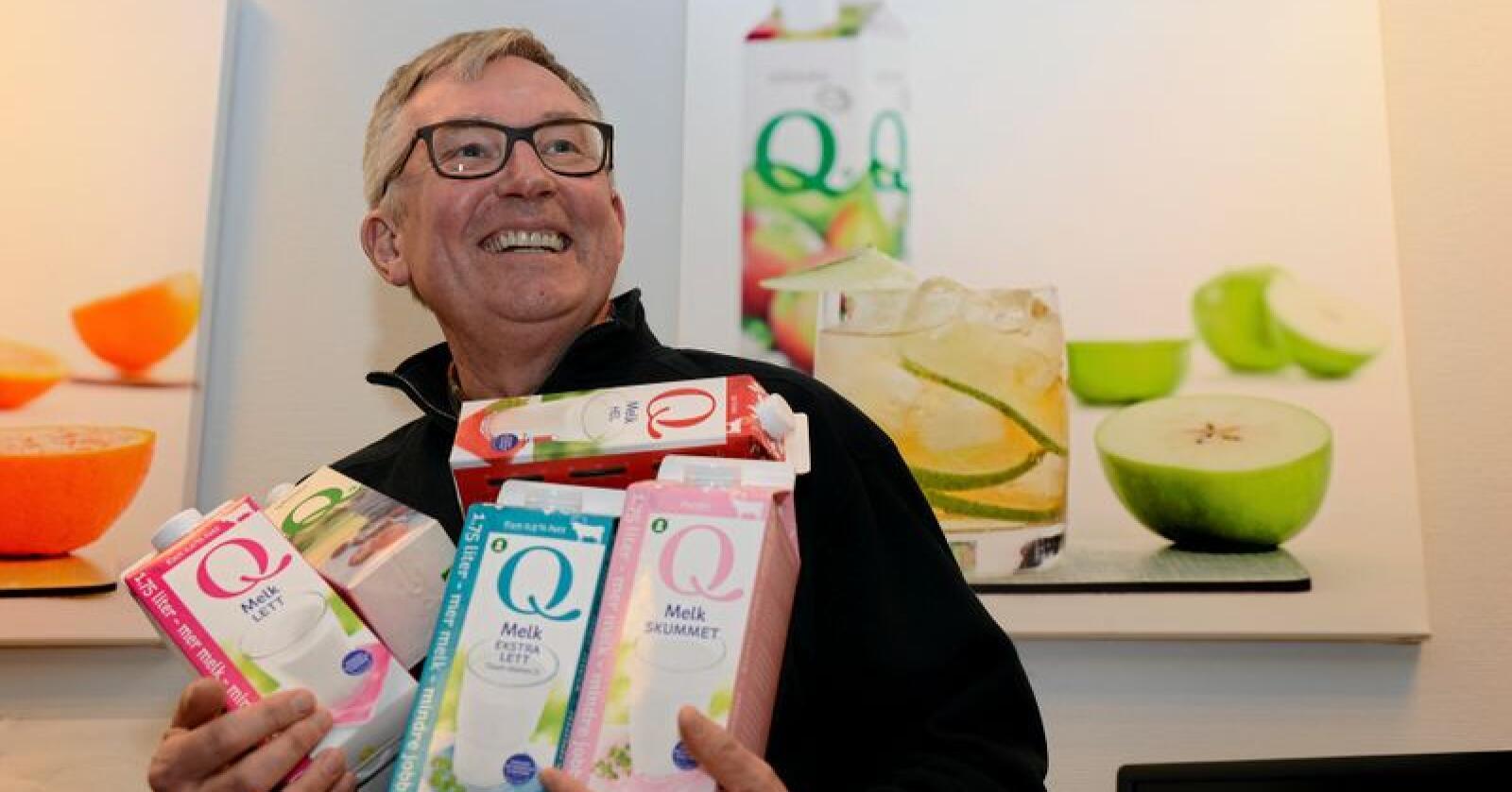 Bent Myrdahl, administrerende direktør i Q-meieriene. Foto: Mariann Tvete