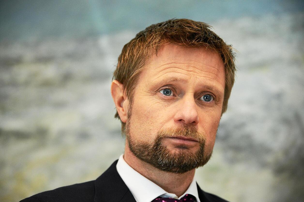 Helseminister Bent Høie la mandag fram strukturen for helseforetakene fram mot 2035. Foto: Siri Juell Rasmussen