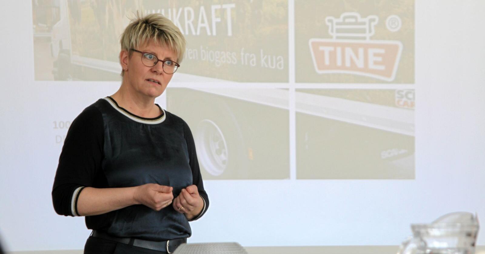 Styreleiar Marit Haugen i Tine. Foto: Janne Grete Aspen