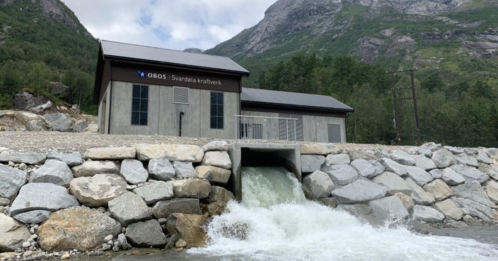Svardøla vasskraftverk i Sogn og Fjordane. Foto: Obos