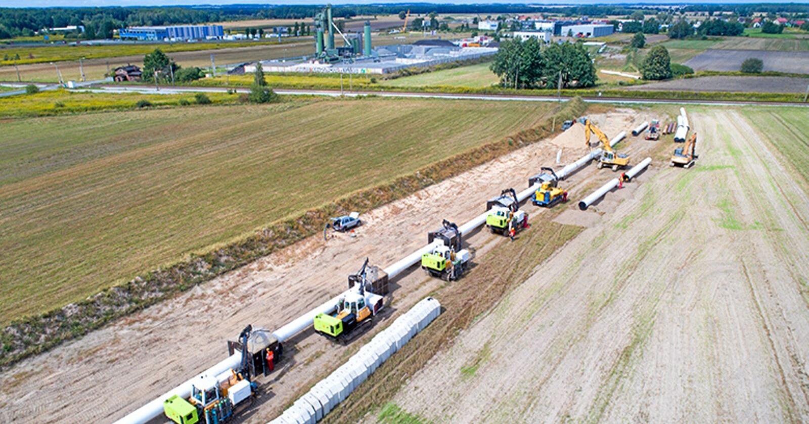 I disse dager starter arbeidet med å legge til rette for utbyggingen av omstrid gasskabel som skal gjennom Danmark for å sikre forsyningen av gass mellom Norge og Polen. Foto: Baltic Pipe Project