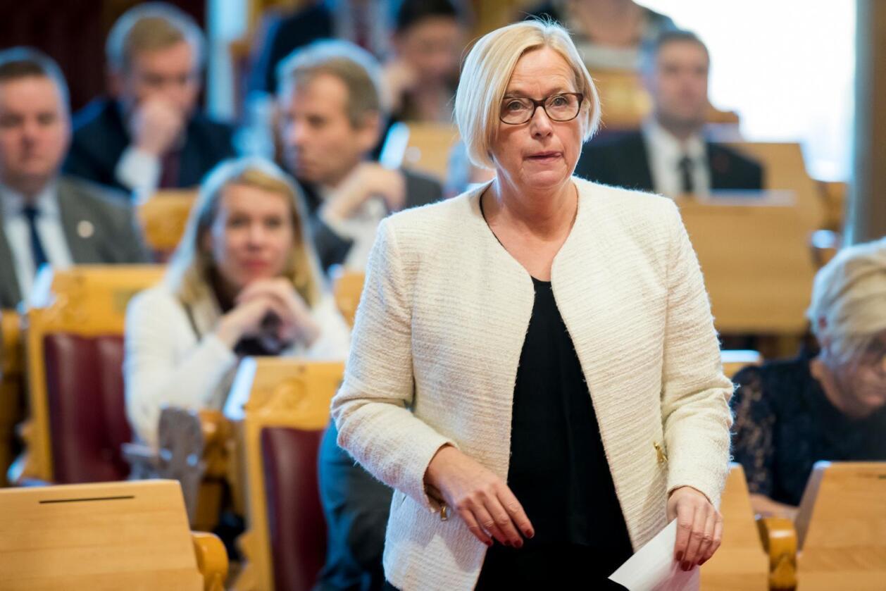 Senterpartiets parlamentariske leder, Marit Arnstad. Foto: Heiko Junge / NTB scanpix