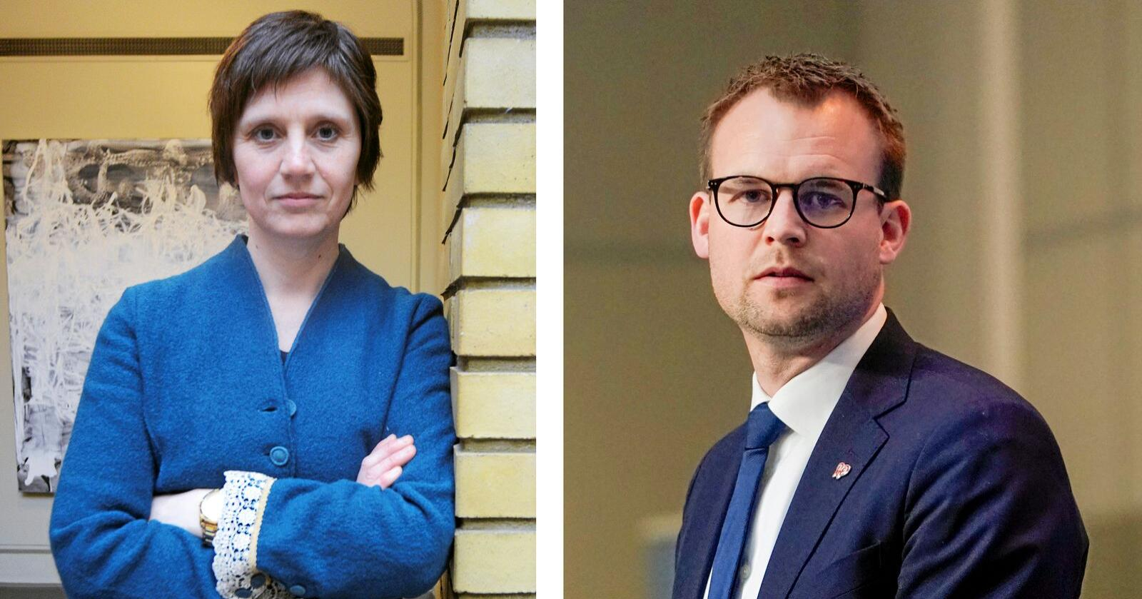 Helsepolitisk talsperson i Senterpartiet Kjersti Toppe er enig med KrF-leder Ropstad i saken om endringer i bioteknologiloven. Andre i Sp har ikke bestemt seg. Foto: Fredrik Hagen / NTB scanpix
