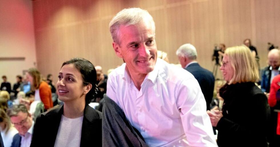 Arbeiderpartiet sin leder Jonas Gahr Støre og nestleder Hadia Tajik under et landsstyremøte i september. Foto: Terje Bendiksby / NTB scanpix