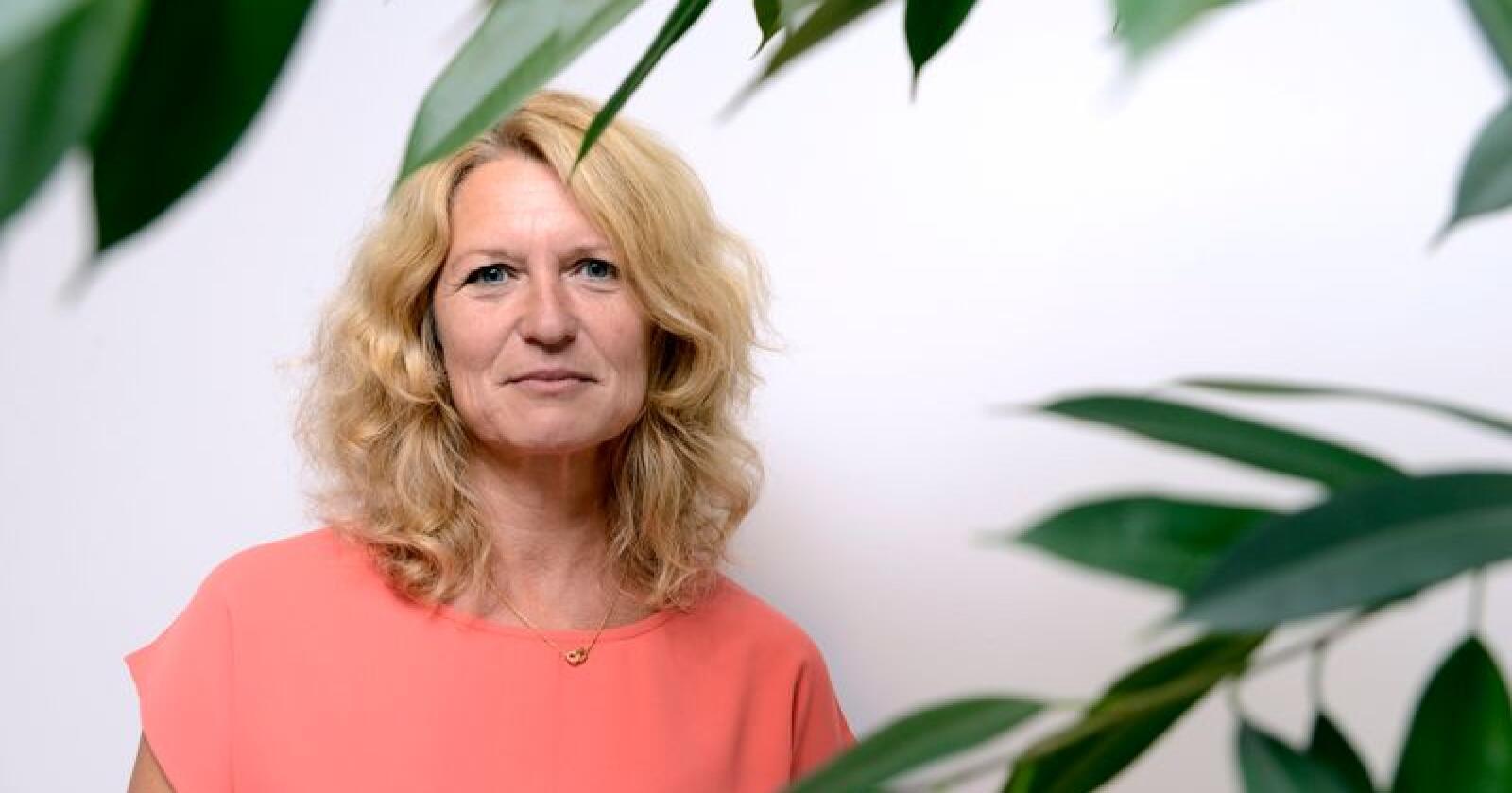 Katrine Røed Meberg i Gartnerforbundet vil ha bedre vilkår for produksjon av grønnsaker, frukt og bær i Norge. Foto: Mariann Tvete