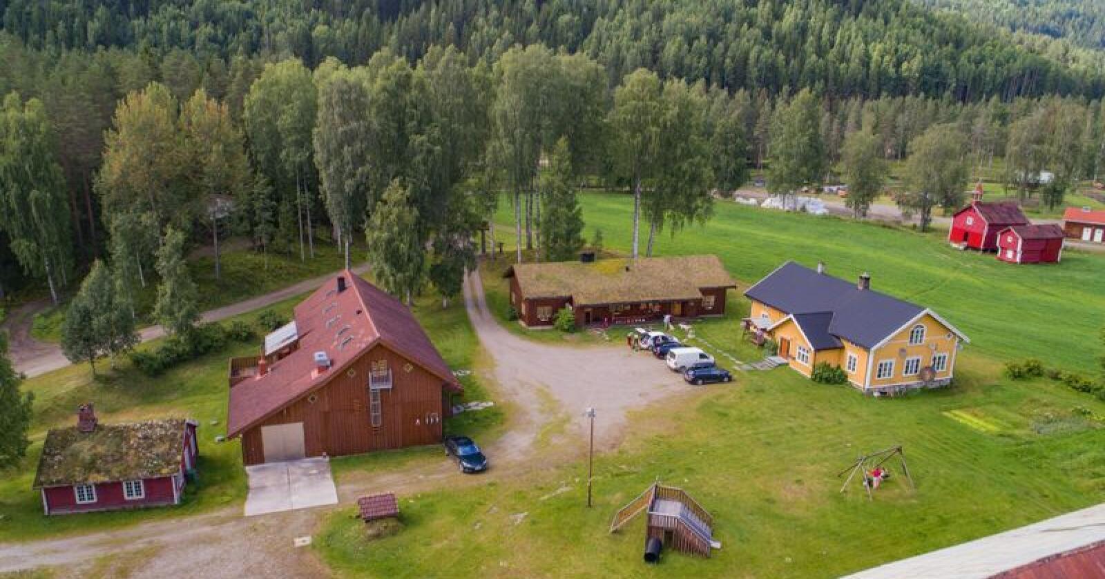 Eiendommen som lå ute for salg til 102 millioner kroner kan skilte med et areal på 61.780 dekar. Foto: Håvard Zeiner